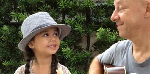 """WATCH: """"Mini Taylor Swift"""" Xia Vigor singing with her daddy"""