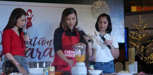 Mommies get to have a special holiday cooking workshop from Mega Prime