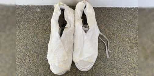 Try this cleaning hack for white shoes that uses toilet paper, just has two steps