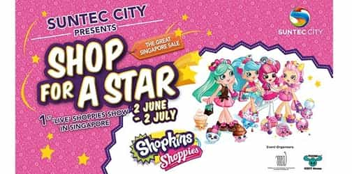 Catch your favourite Shopkins Shoppies and shop for fabulous deals this GSS at Suntec City!