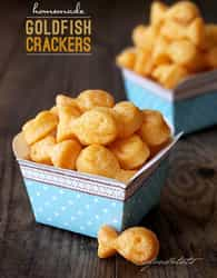 Recipe for home-made goldfish crackers