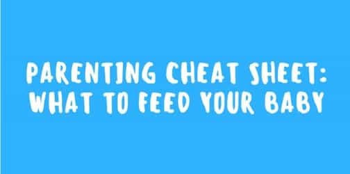 Parenting cheat sheet: what to feed your baby