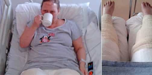 A woman's bikini shave goes horribly wrong, puts her in a 9-day coma