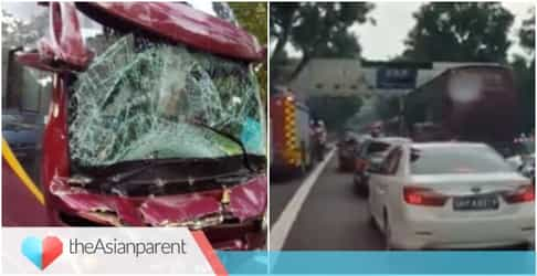 3 Children rushed to hospital after accident on highway in Singapore