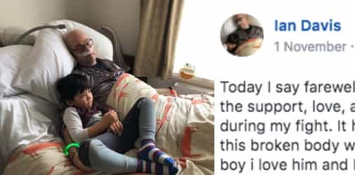 Dad Shares His Final Moments With His Son on Facebook and It's Heartbreaking