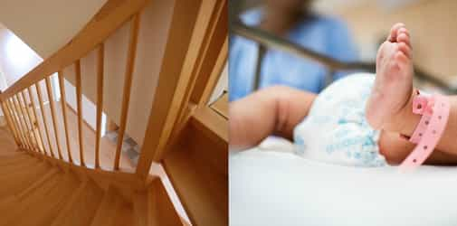 Baby dies after father who was carrying him, trips and falls down the stairs