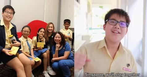 COVID-19: Primary 6 Boy Cheer On Singaporeans With Original Song
