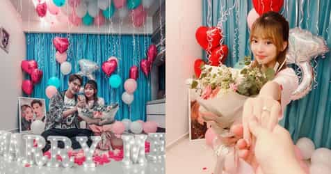 Singapore TV Host Lee Teng Got Engaged In A Super Cosy Home Marriage Proposal