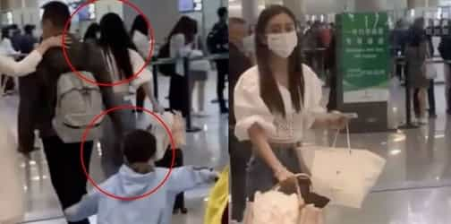 """Angelababy Criticised For """"Having No Maternal Instincts"""" After She Runs Ahead Of Her Son At Airport"""