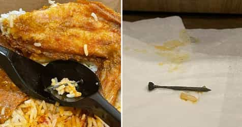 'I Almost Died Eating This': Woman Finds Rusty Nail In Crave Nasi Lemak