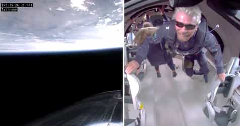 """""""To All You Kids Down There..."""" Richard Branson Sends Inspiring Message From Outer Space"""