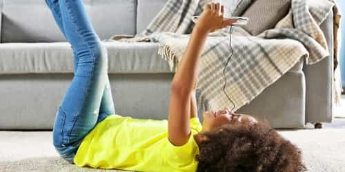 Smartphones and tablets can affect mental health in children as young as two