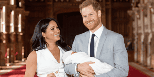 New Photo of Archie, on Prince Harry's First Father's Day!