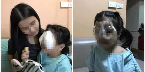Little girl suffers eyesight problems after prolonged mobile phone use