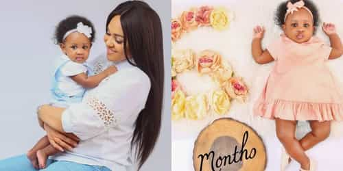 """""""I literally feel butterflies when I look at her"""" Tania Omotayo Celebrates Her Daughter At Six Months"""