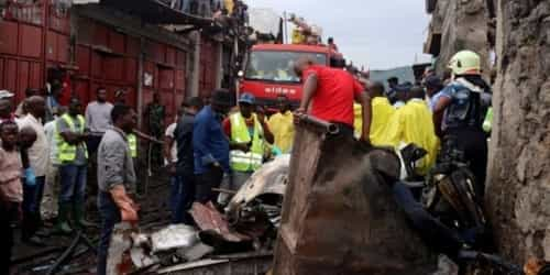 DR Congo Plane Crash: At least 27 Dead As Plane Crashes Into Homes