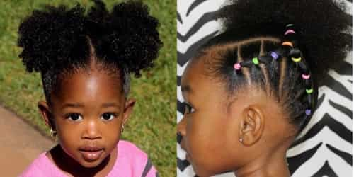 Gorgeous Afro hairstyles for baby girls