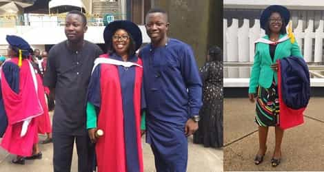 Inspiring! Mother of 4 Goes Back To School After Raising Kids, Bags PhD.
