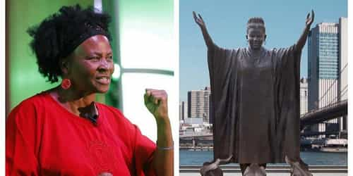 Zimbabwe Woman Tererai Trent Say She Dey 'Humbled' With Her Statue For New York