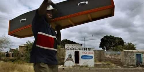 Coffin Sellers Asked To Vacate Zambia's Hospital After 'Patients Complained Of Depression'