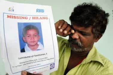 Another child missing in Malaysia