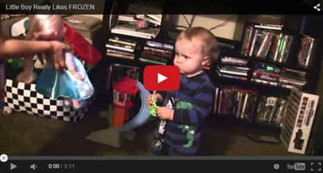 Little boy loves Frozen! - Watch this funny video