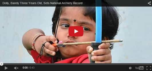 Amazing! Two-year-old girl sets national archery record