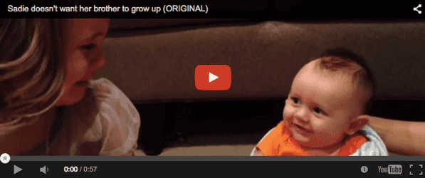 Funny baby video: 'Babies must remain babies'