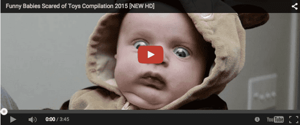 Funny baby video: Babies scared of toys
