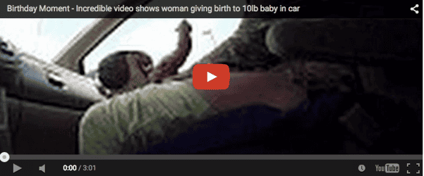 This woman gives birth in a moving car. OMG!