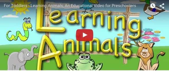 Teach your toddler animal names with this fun video