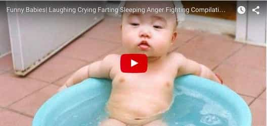 Babies caught dozing, laughing and getting frightened: Funny baby video