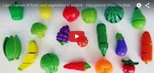 Learn names of fruits and veggies the fun way