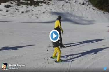 Hrithik Roshan seen skiing with his sons in this home video