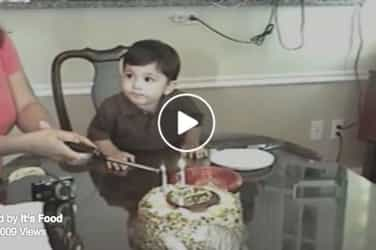 This boy just can't wait to blow his birthday candles and it's hilarious