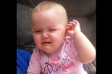 This baby girl has mastered the art of fake crying!