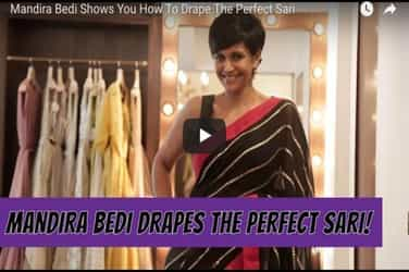 Watch: Mandira Bedi gives you tips on how to drape a saree perfectly!