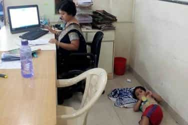 This working mother wanted to stay with her sick child. So, she did this
