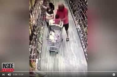 Shocking! CCTV footage shows a man attempting to snatch a baby