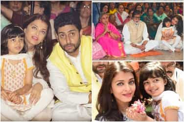 In Pics: The entire Bachchan parivaar along with little Aaradhya comes together to celebrate Durga Ashtami