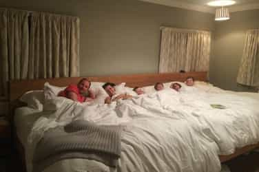 This family's 18-ft bed takes co-sleeping to the next level!