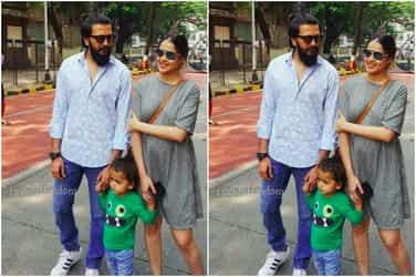 Riaan runs across the streets, as proud parents Riteish and Genelia watch on