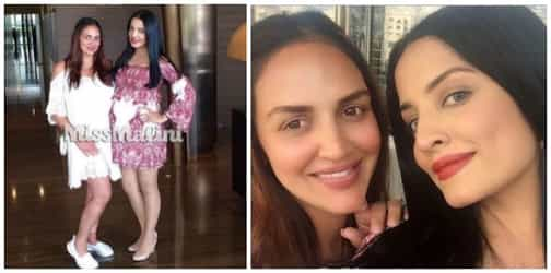 """Mums-to-be Esha Deol and Celina Jaitly """"bump"""" into each other in Dubai!"""