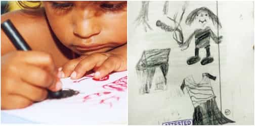 A 10-year-old girl's spontaneous sketch in court sends her rapist uncle behind bars