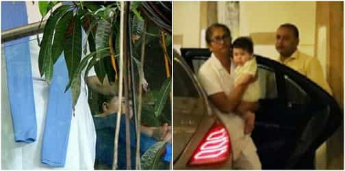 Taimur Ali Khan enjoys some swing time and then goes out for a stroll sans Kareena