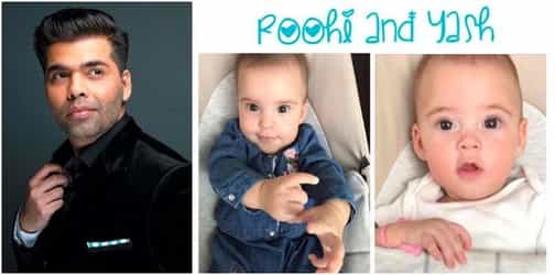 Here they are! Take a closer look at Karan Johar's babies who look like foreigners