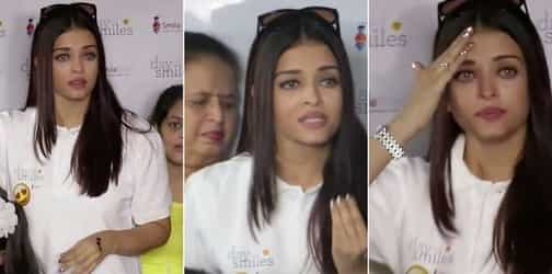 Teary-eyed Aishwarya loses cool and lashes out at media for creating chaos at an event
