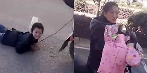 Shocking! Ruthless mother drags son behind scooter to punish him for THIS reason