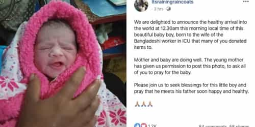 COVID-19: Critically-ill Bangladeshi Worker's Wife Gives Birth, Man Still Warded In Isolation