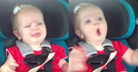 Katy Perry Dark Horse song stops this cute baby from crying!